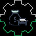 תשלום במזומן - אייקון קטן